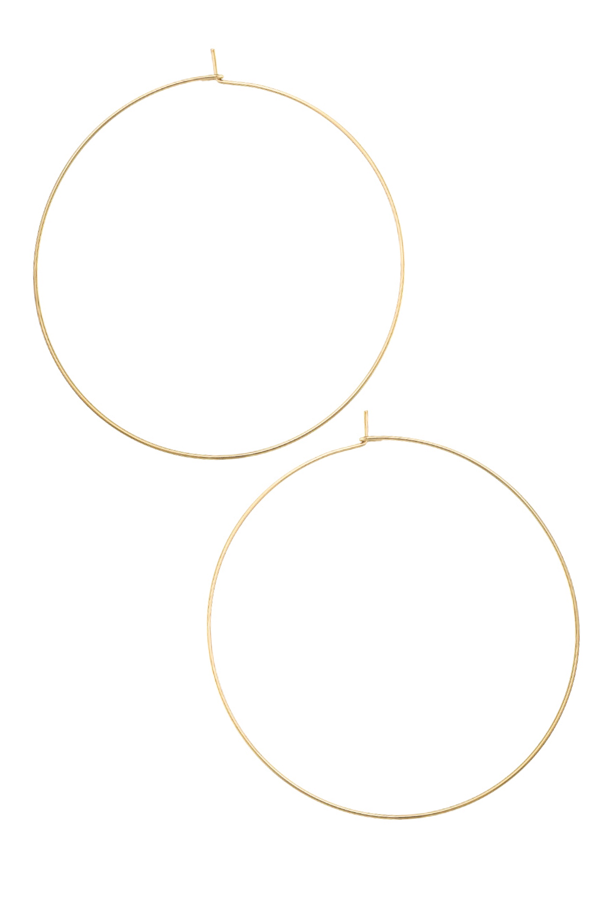 WIRE THIN GOLD HOOPS