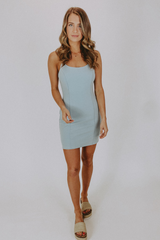 BODYCON MINI DRESS IN LIGHT BLUE