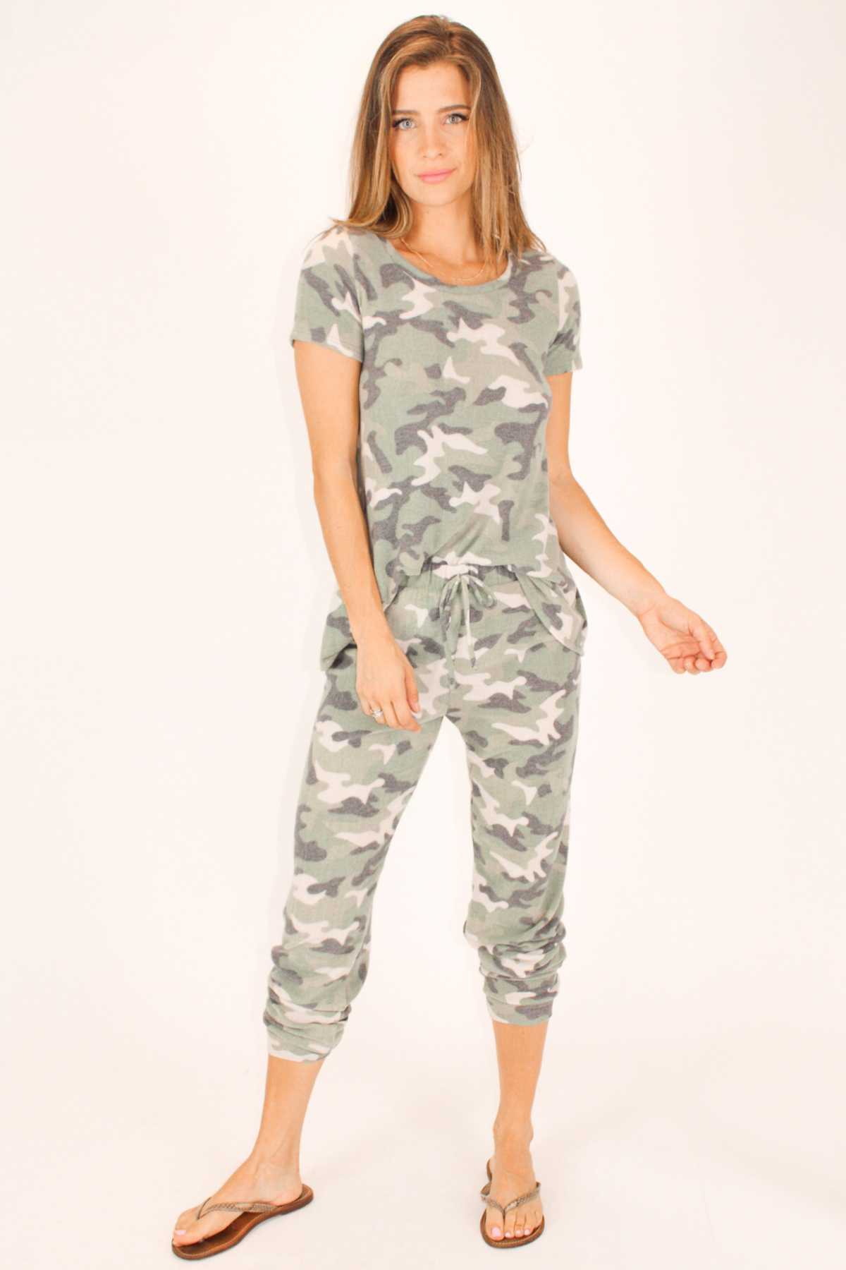 SUPER SOFT CAMO KNIT PANTS