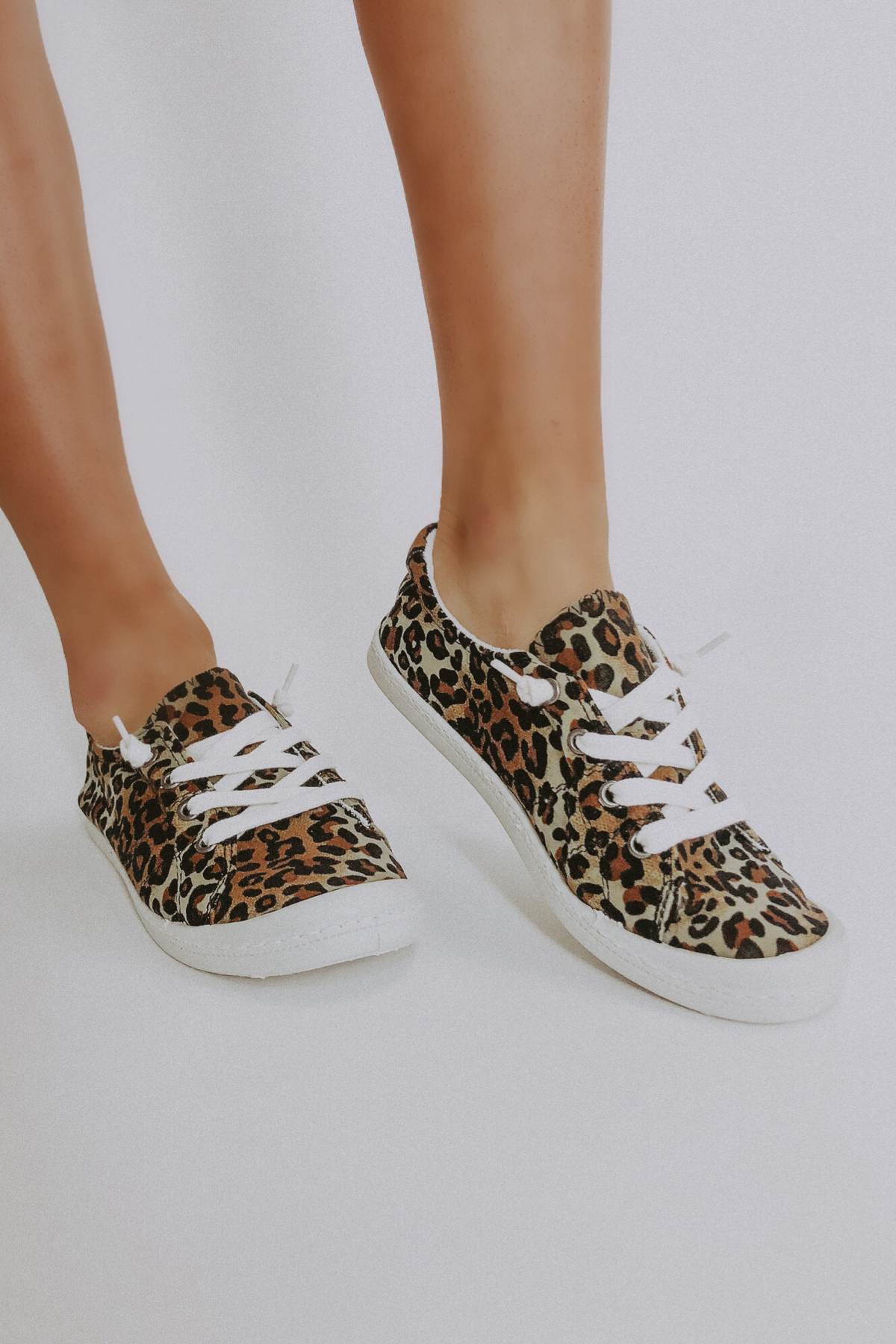 LEOPARD SOFT CANVAS SNEAKERS / FINAL CLEARANCE