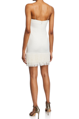 LIKELY MELLY DRESS IN WHITE