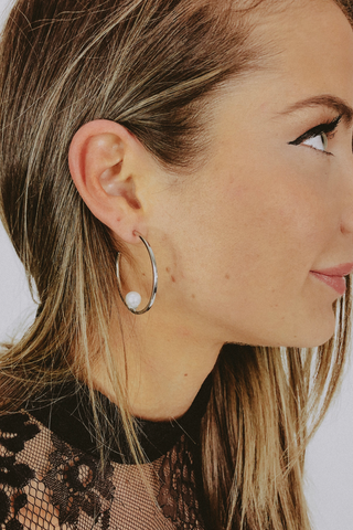 HAIL MARY EARRING IN SILVER