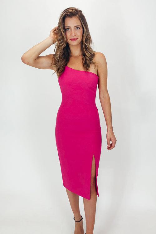 LIKELY CASSIDY DRESS IN FUSCHIA