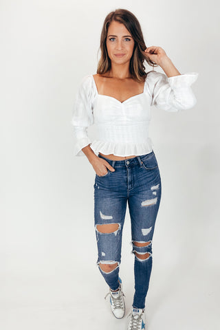 KEEP IT LACEY BLOUSE