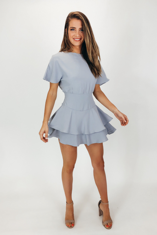 SMOCKED MINI DRESS