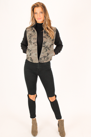 BLACK LEOPARD OPEN FRONT CARDIGAN