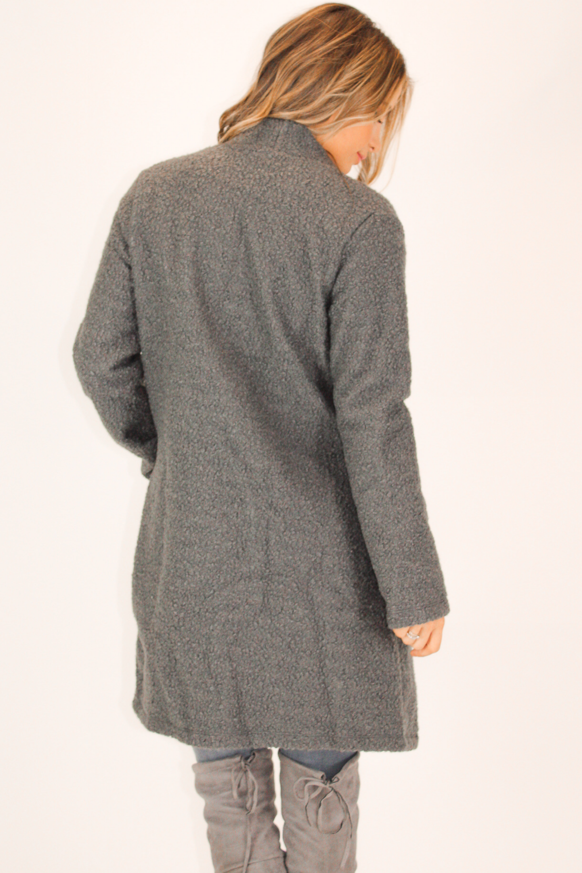 CHARCOAL TEDDY JACKET
