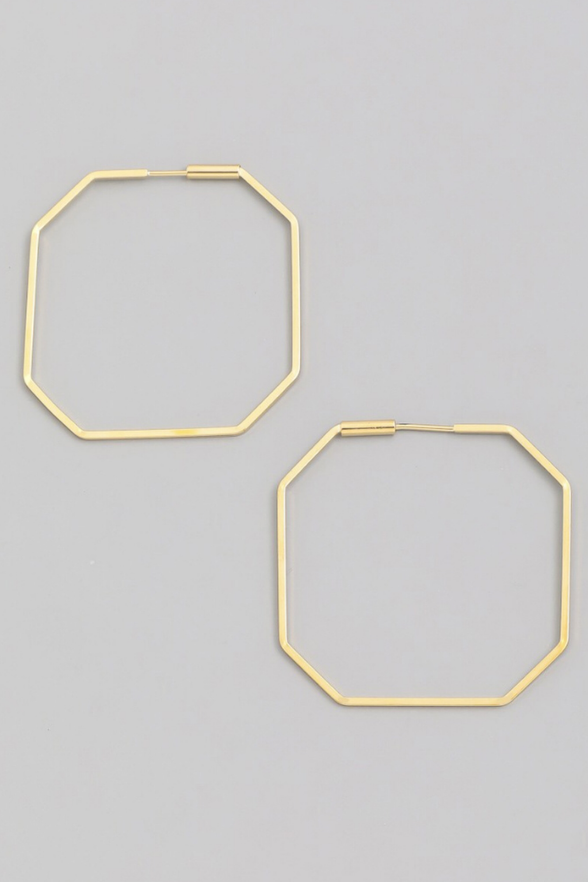 14 KARAT GOLD DIPPED GEOMETRIC HOOPS