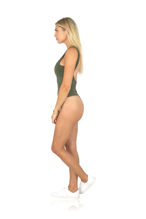 BAE WATCH BODYSUIT IN OLIVE