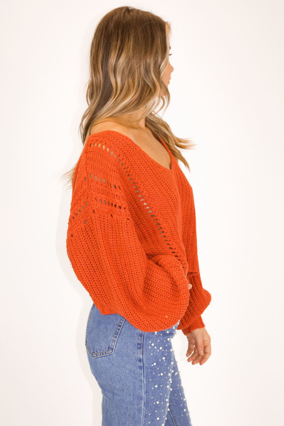 SWOOP NECK KNIT IN CLAY