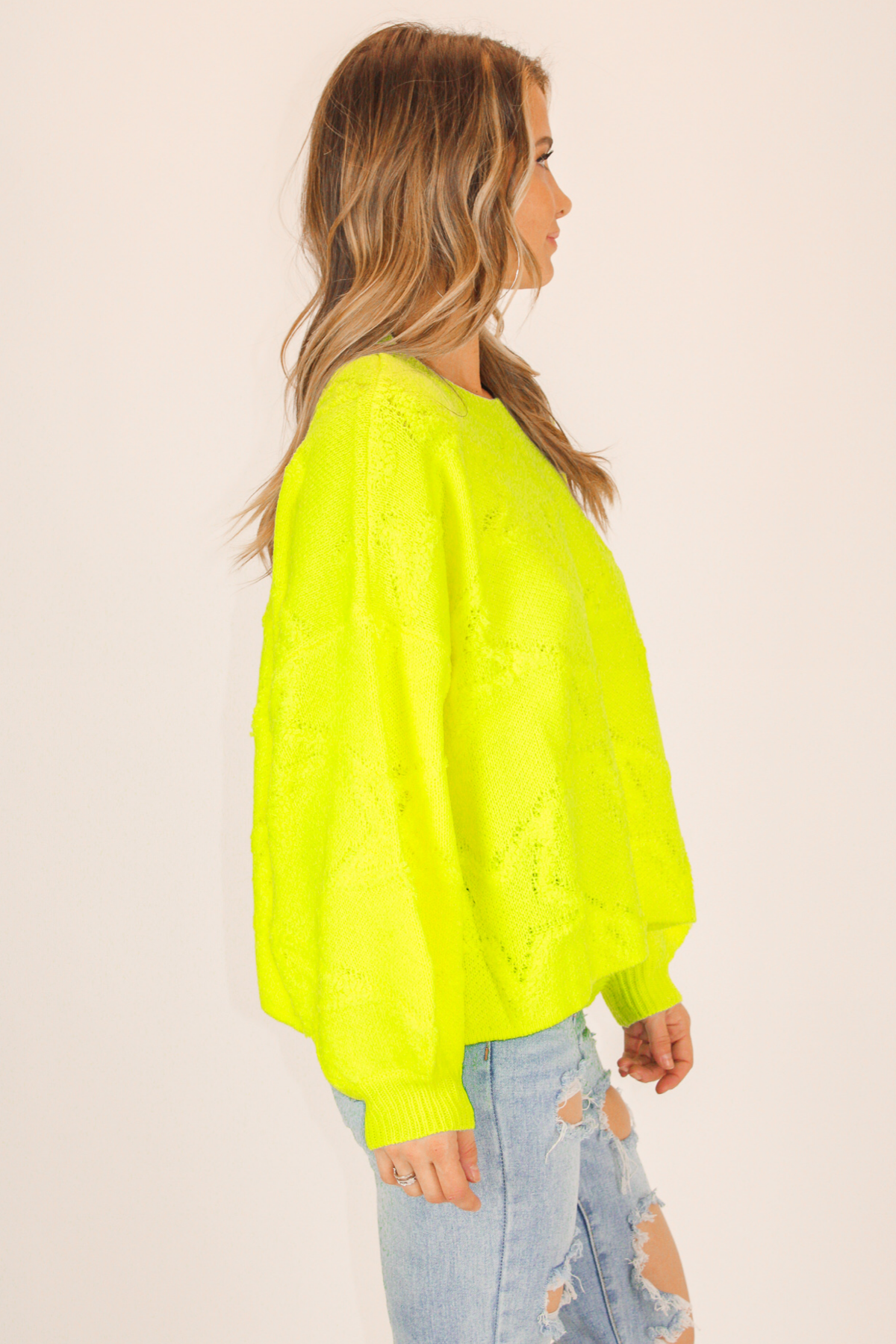 Neon Star Stitch Sweater