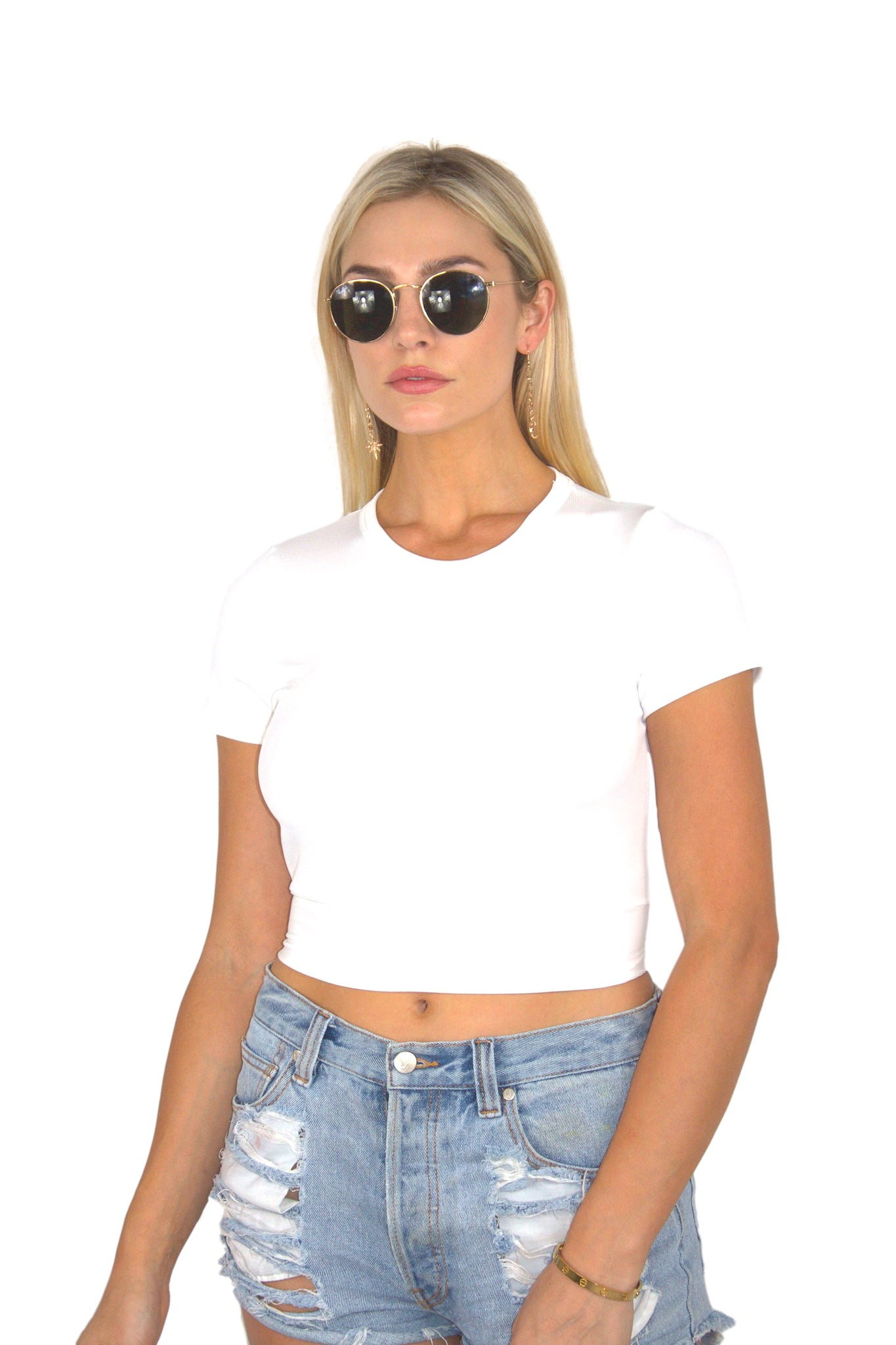 BACK AT IT CROP TOP IN WHITE