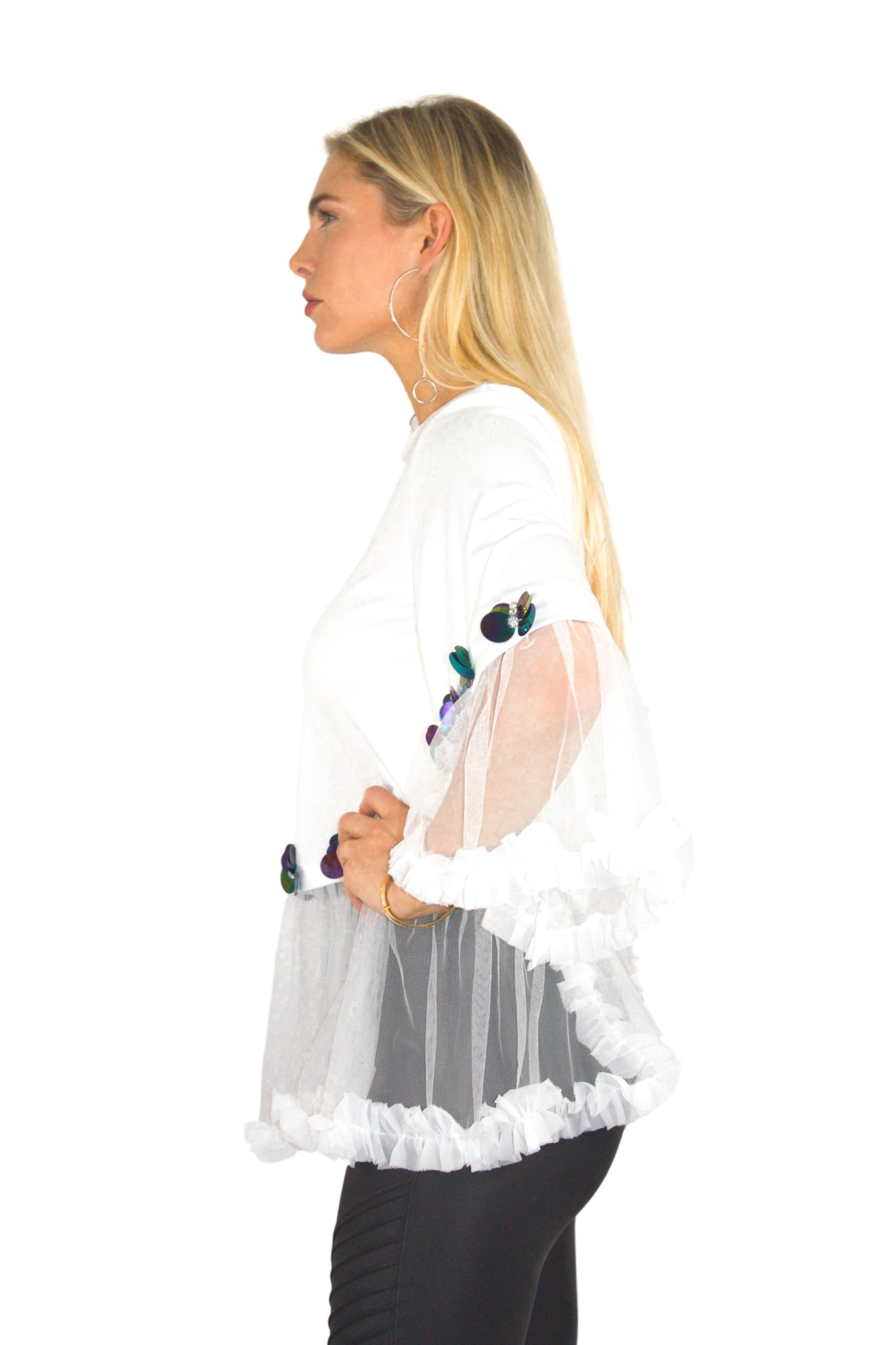 BE TULLE SHIRT