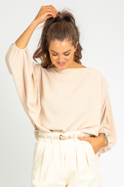 LATTE PUFF SLEEVE BLOUSE