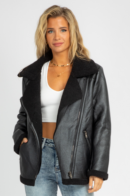 SOFT LINED BIKER JACKET
