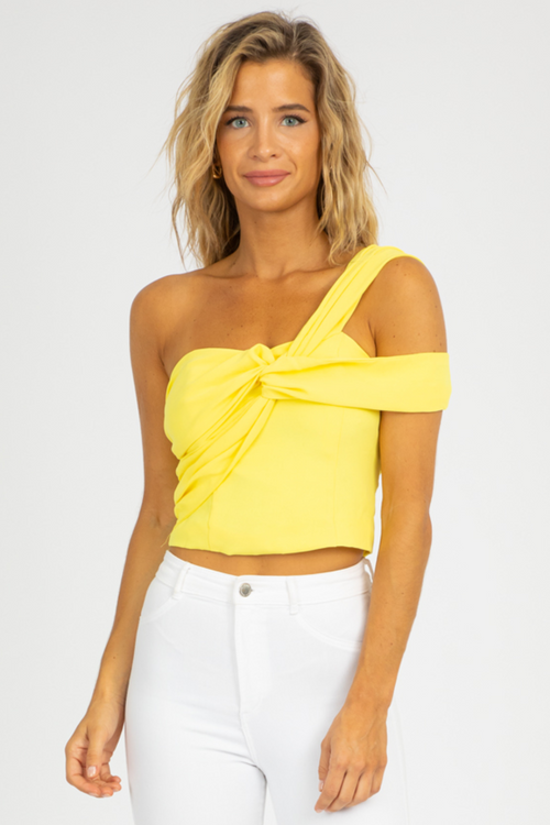 LEMON ONE SHOULDER CROP