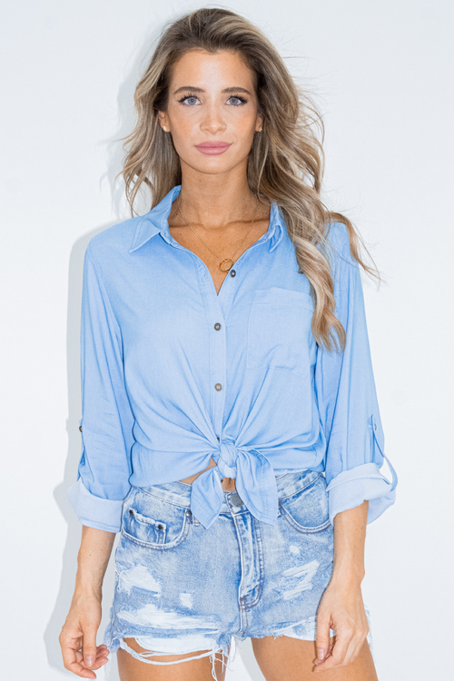 LIGHTWASH DENIM BUTTON DOWN