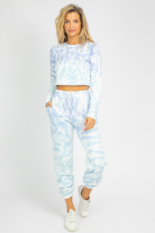 BLUE + PINK HOODED TIE DYE SET