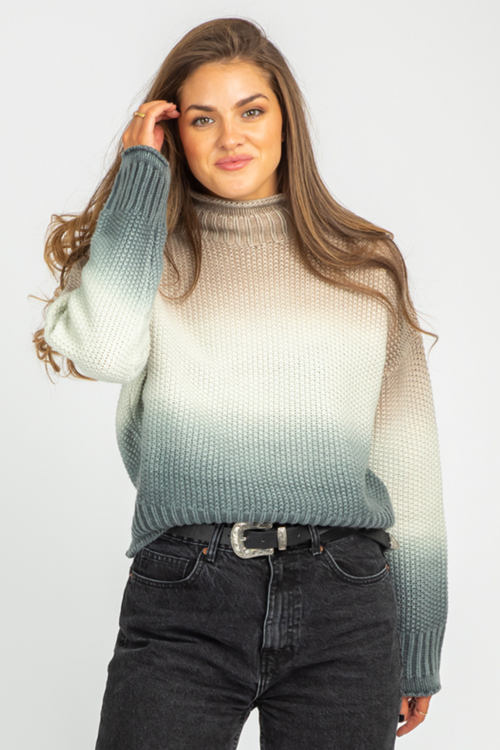 MOCHA DIP DYED SWEATER