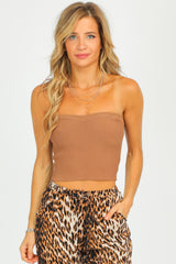 MOCHA KNIT TUBE TOP