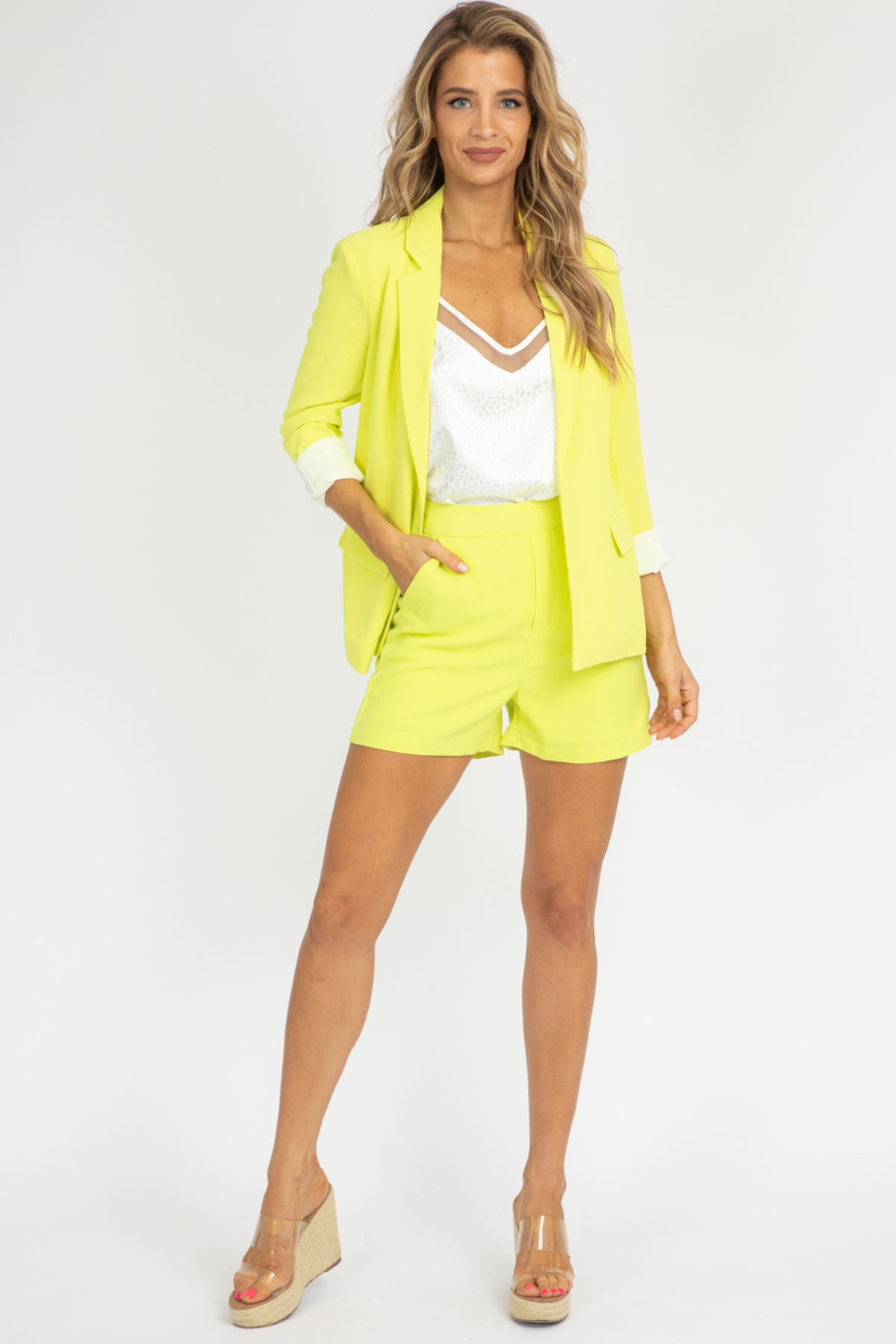 NEON LIME BLAZER SET