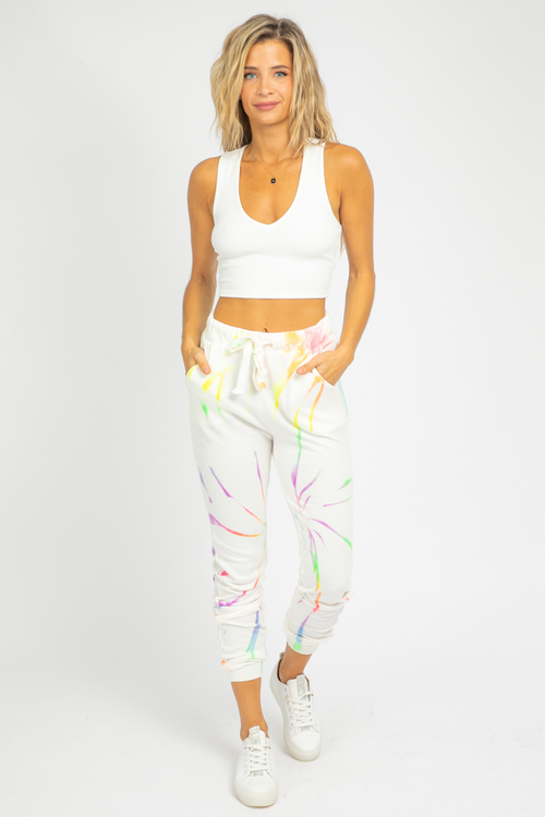 NEON MULTI-COLOR TIE DYE SWEATPANTS