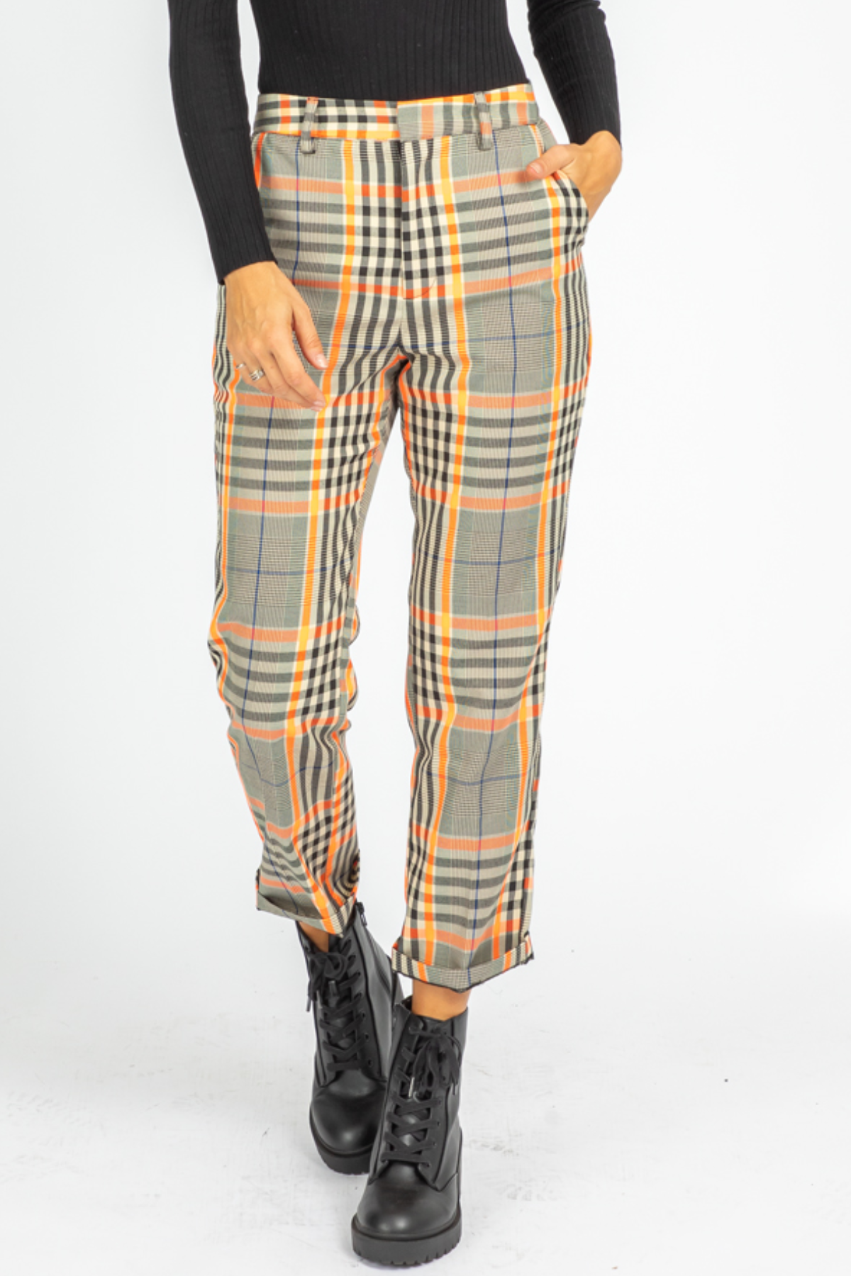 NEON CHECKER PANTS