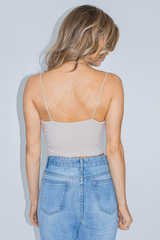 COWL NECK CROP IN NUDE