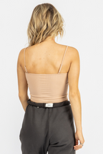 NUDE LACEUP FRONT CAMI