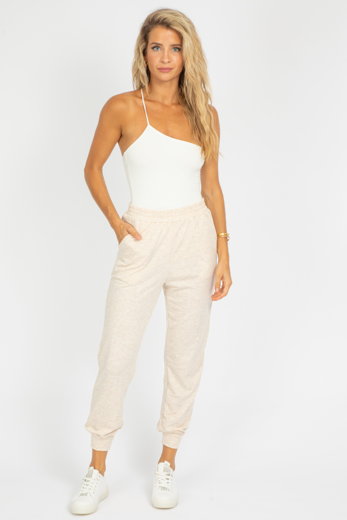 OATMEAL KNIT LOUNGE JOGGERS