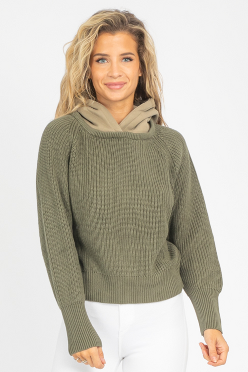 HELGA SWEATER IN OLIVE