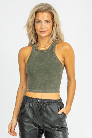MICA TIE BACK HALTER TOP