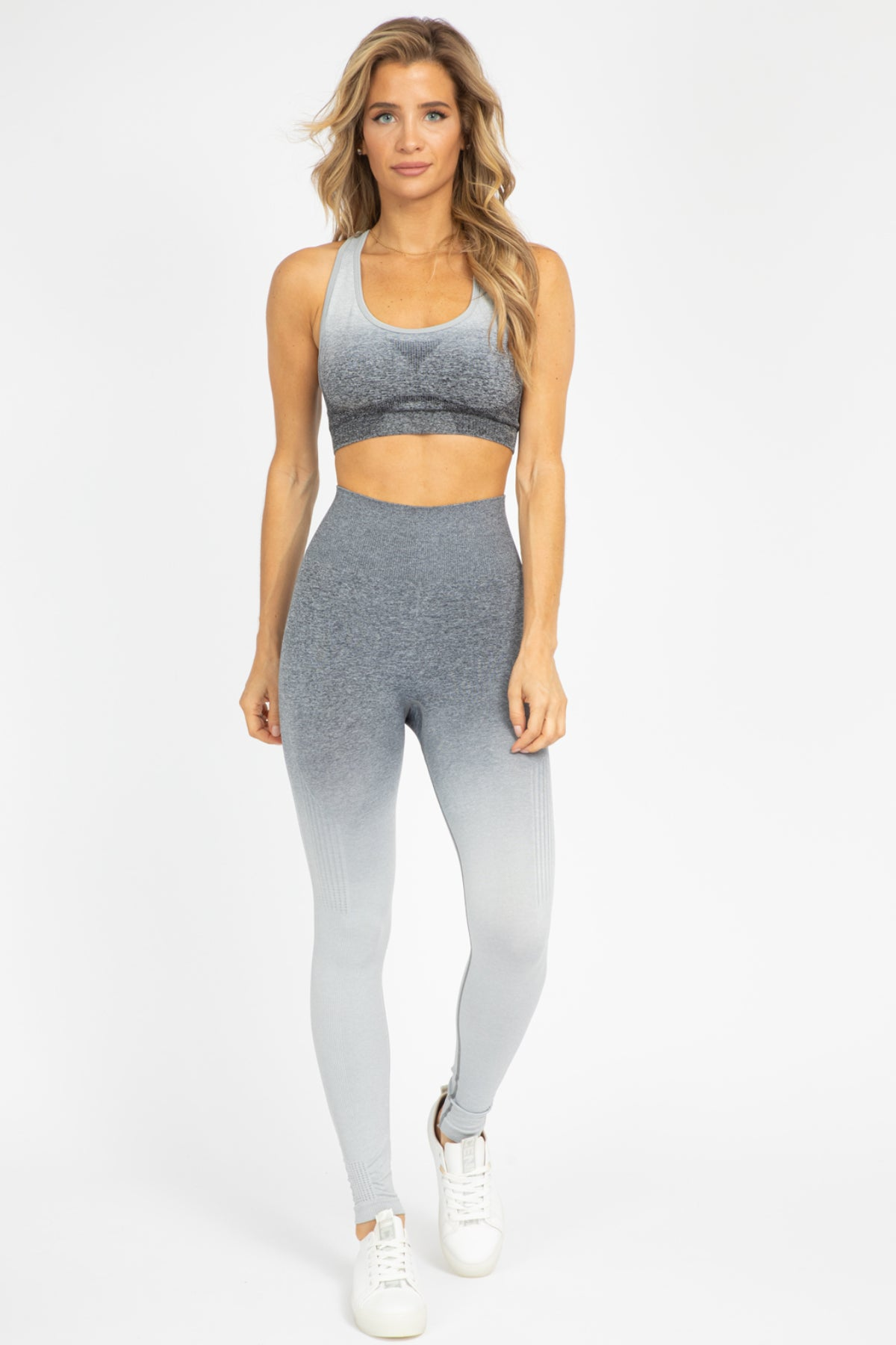 GREY OMBRE SPORTS BRA