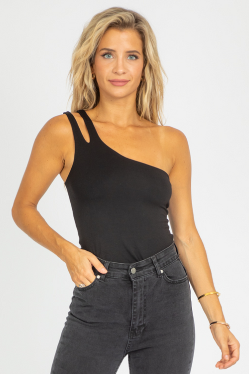 DOUBLE-LAYERED ONE SHOULDER TANK