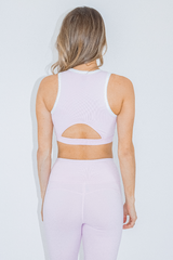 BABY PINK HIGH NECK SPORTS BRA