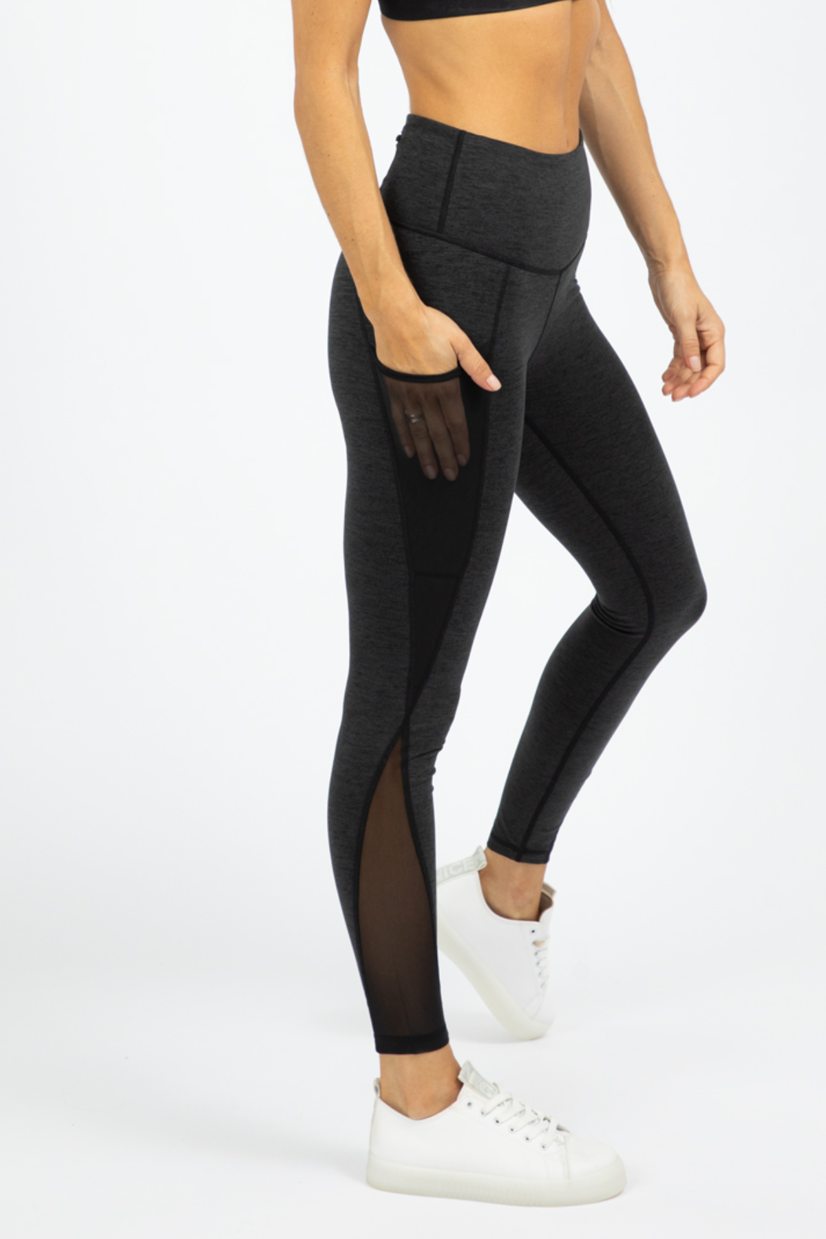 TWO TONE MESH LEGGINGS