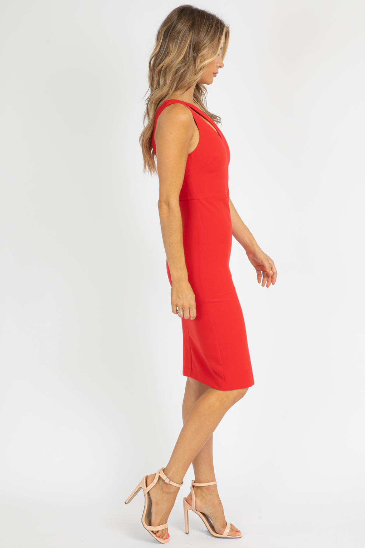 LIKELY LISETTE DRESS IN SCARLET