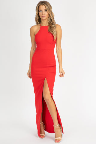 BERRY ONE SHOULDER DRESS