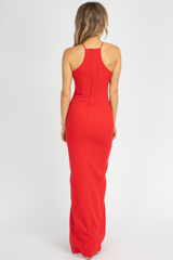 LIKELY ROCCO GOWN IN SCARLET