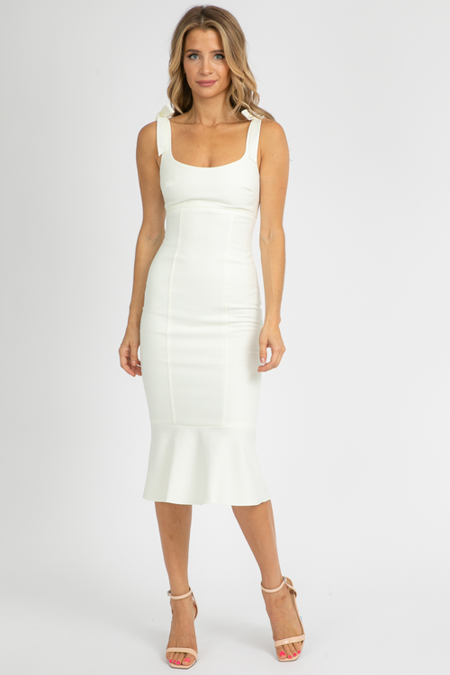 LIKELY ELLERY DRESS IN WHITE