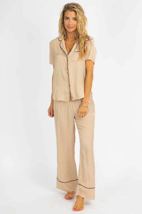 SAND SATIN PJ SET