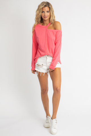 SLEEVELESS HIGH NECK BLUSH CROP