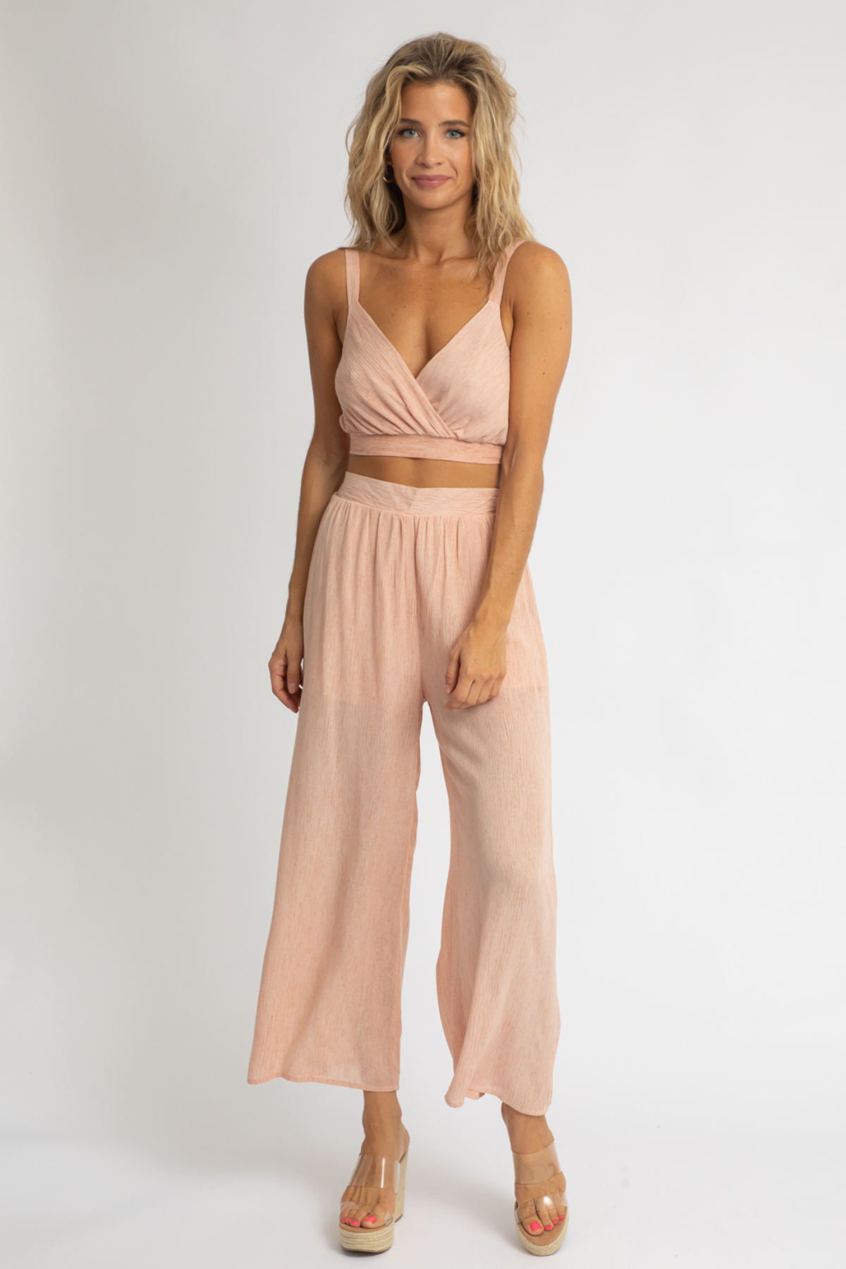 BLUSH CRINKLE SET
