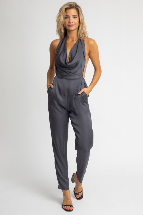 OREO SATIN MULTI-WAY JUMPSUIT