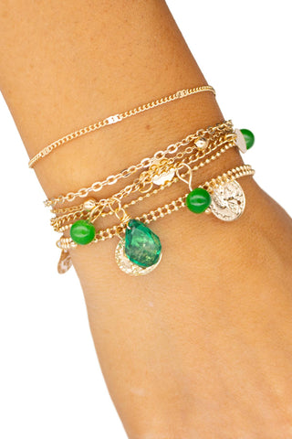MULTICOLOR EVIL EYE BRACELET 4 SET