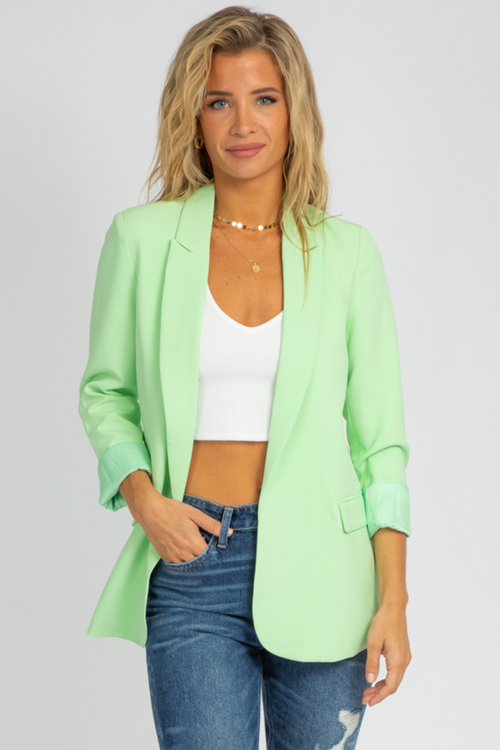 LIME LONG BLAZER