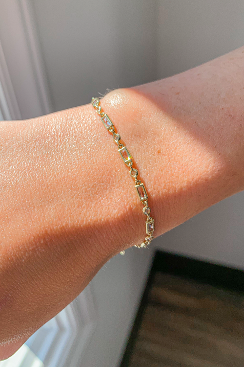 STERLING SILVER GOLD PLATED CHAIN BRACELET