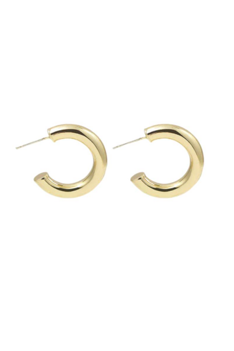 GOLD CHUNKY ROUND HOOP EARRING