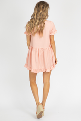 BLUSH SQUARENECK BABYDOLL DRESS