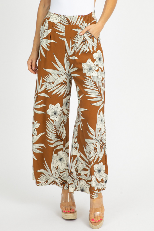 COCOA TROPICAL WIDE LEG PANTS